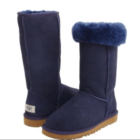 ugg shoes navy blue classic tall boots poshmark rh poshmark com